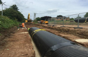 Work on the Bell Brook culvert