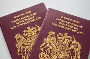photo of a UK passport