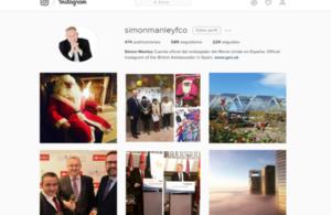 La embajada del Reino Unido en las redes sociales