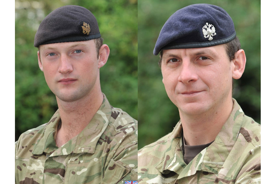 Lieutenant David Boyce and Lance Corporal Richard Scanlon (All rights reserved.)