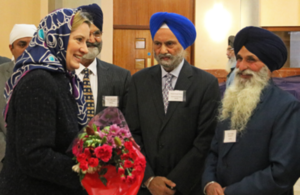 Amber Rudd at Sri Guru Singh Sabha Gurdwara in Southall