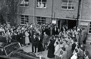 HM The Queen and HRH the Duke of Edinburgh paid the site a visit in 1957