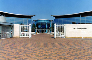 MOD Abbey Wood entrance. MOD Crown Copyright