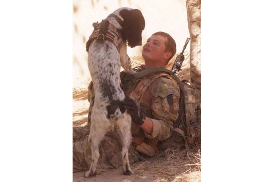 Lance Corporal Liam Tasker and Theo (All rights reserved.)