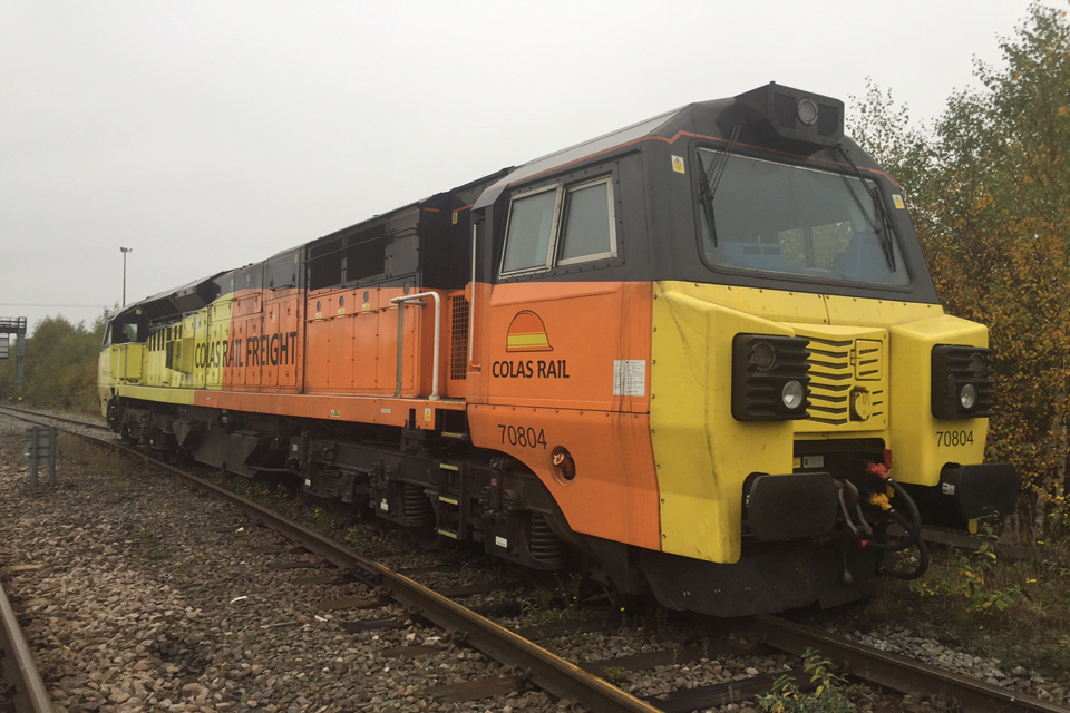 The locomotive derailed at the trap points (photo courtesy of Network Rail)