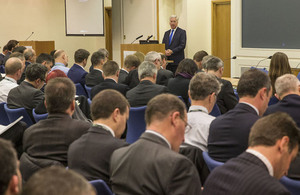 Sir Michael Fallon addresses British Defence Attachés in London