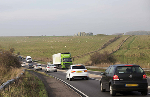 A303 past Stonehenge.
