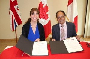 British and Canadian Embassies in Peru sign Memorandum of Understanding (MoU)
