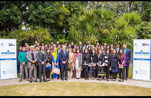 The British High Commissioner Mr. Thomas Drew CMG with participants of Future Leaders Conference.