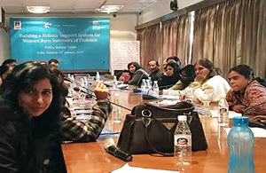 Delhi state roundtable for rehabilitation of women burn survivors