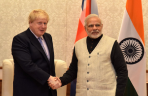 Foreign Secretary Boris Johnson meets Prime Minister Narendra Modi