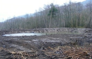 Image shows one of the silt traps