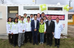 British Embassy launches Peru's first portable lab for the diagnosis of TB