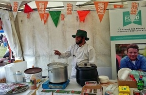 Mohammed at the Sugar Smart cookery demonstration