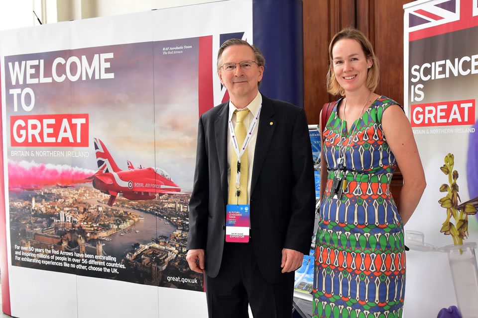 Nobel Prize Winner, Jack Szostak, and British Embassy's Prosperity Director, Catherine Taylor.