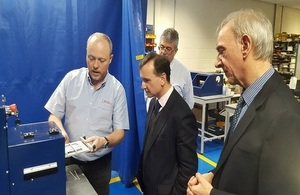 Secretary of State for Wales at Spectrum Technologies