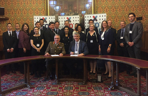X-Forces renew their support to the Armed Forces alongside Chief of Defence People, Lieutenant General Richard Nugee, in the House of Lords today.