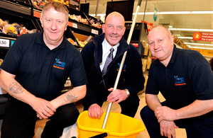 David Watson, Paul Edgar (Interserve Site manager) and David Agnew