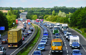 Congested stretch of the A12 in Essex