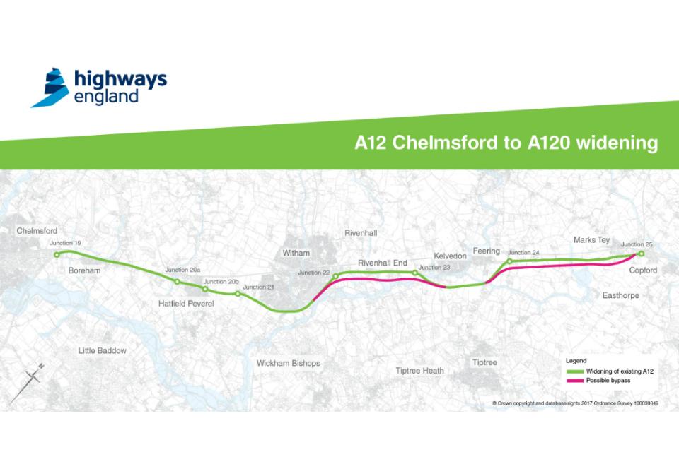 A12 proposals map