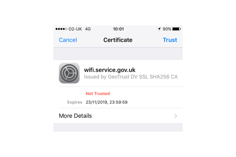Connect To Govwifi Using An Iphone Or Ipad Gov