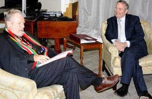 Dr Liam Fox and Dr Rob Davies meeting to discuss trade
