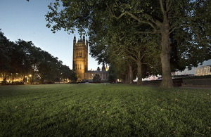 View of the Palace of Westminster from Victoria Tower Gardens ©Malcolm Reading Consultants & Emily Whitfield-Wicks