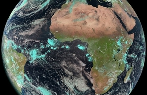 Image of Africa from space.