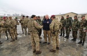 Mike Penning meets with British and Afghan mentors at the Afghan National Army Officer Academy