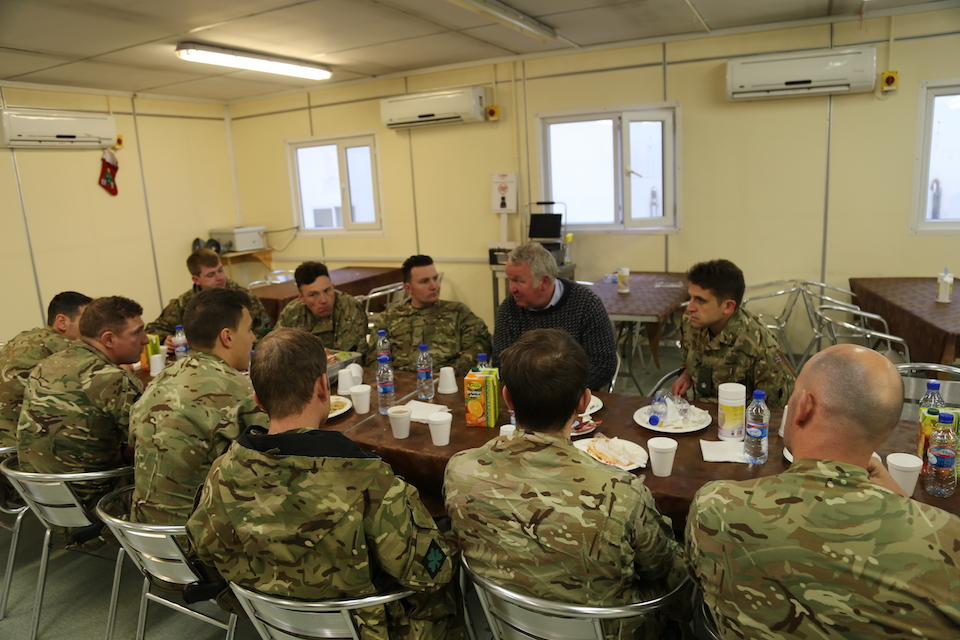 Lunch with UK personnel