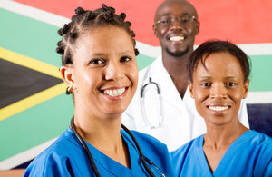 Medical team in South Africa
