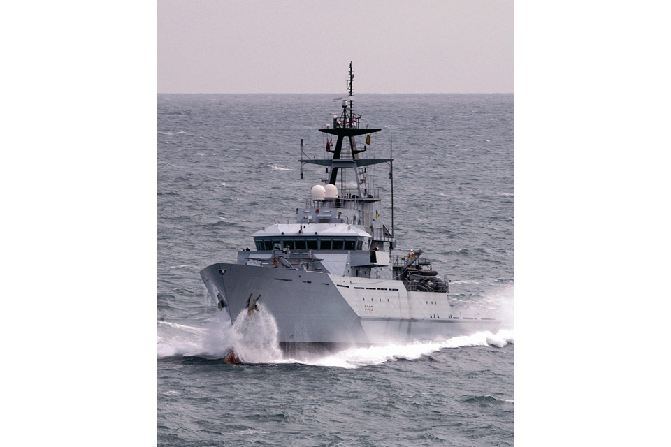 HMS Severn at sea