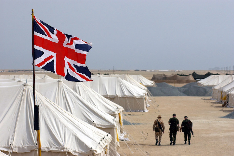 Union Jack flag on British Military base.