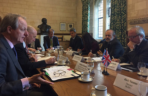 Ambassador Mark Kent travels to the UK with Argentine legislators