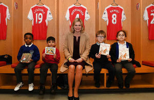 Justine Greening MP at Arsenal Football Club