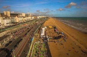photo of Brighton from the air