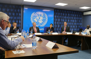 International Development Secretary Priti Patel speaks with humanitarian partners on the urgent conditions in Somalia.
