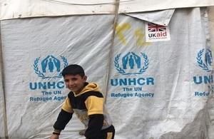 DFID Minister visit to Informal Tented Settlement in Bekaa