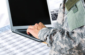 Military man and computer