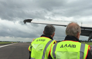 AAIB Inspectors on site