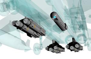 Computer-generated image of Dual Mode Seeker Brimstone missiles fitted to an aircraft [Picture: Copyright MBDA Systems]
