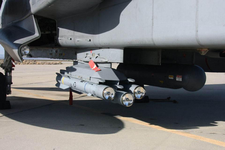 Dual Mode Seeker Brimstone missiles fitted to a Royal Air Force Tornado GR4 aircraft