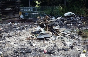 Image shows waste at the site at Callerton