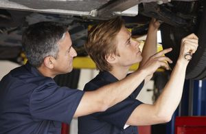 Young person training to be a mechanic