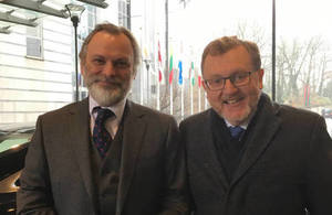 Sir Tim Barrow and David Mundell in Brussels
