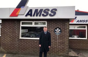 David Jones, Minister for Exiting the European Union, at AMSS in Bridgend
