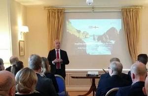 DHM Richard Shackleton at Arctic seminar