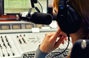 Radio studio image