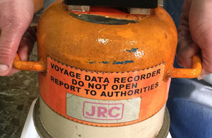 Voyage Data Recorder from MV Cabrera