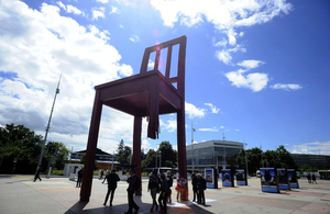 The Implementation of Council Resolution 16/18 event took place just outside the Palais des Nations in Geneva